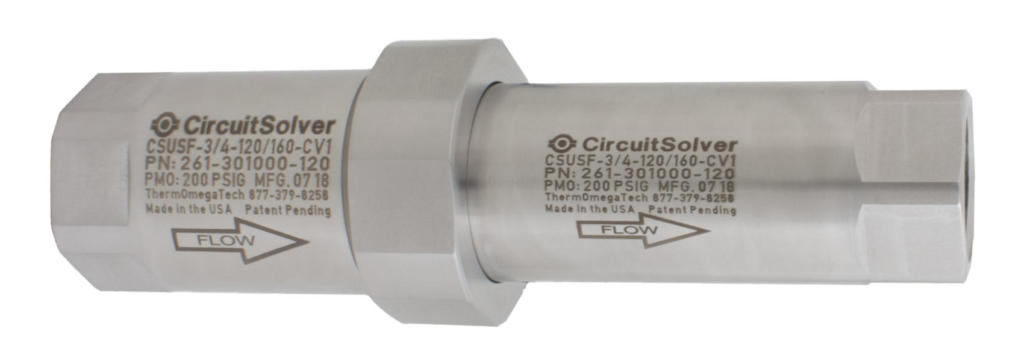 CircuitSolver® CSUSF Self-actuating Sanitary Flush thermostatic balancing valve for domestic hot water systems (DHWS)